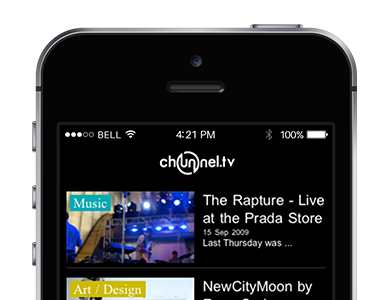 Chunnel.TV podcasting iPhone application